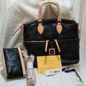 DOONEY & BOURKE DILLEN DE24C DOUBLE POCKET SATCHEL